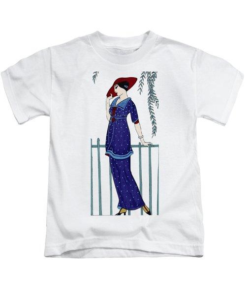 Art Deco Fashion Polka Dots Kids T-Shirt