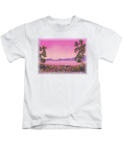 Evening In Pink Kids T-Shirt