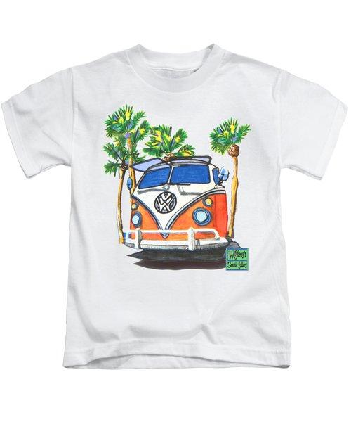 Volkswagen  Vw Bus Surfing Hippie Camper Kids T-Shirt