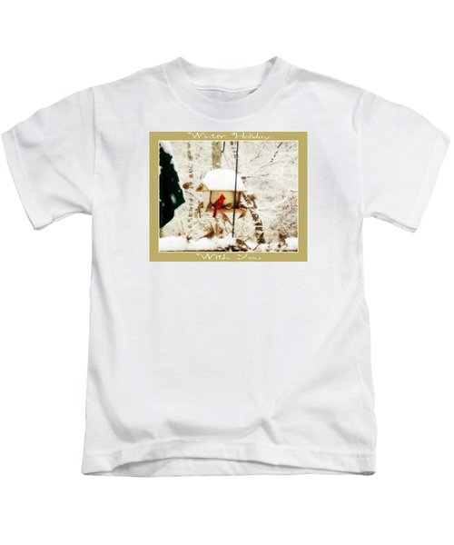 Winter Holiday Kids T-Shirt by Anita Faye