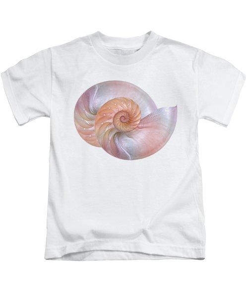 Pink Pearlescent Nautilus Shells Kids T-Shirt