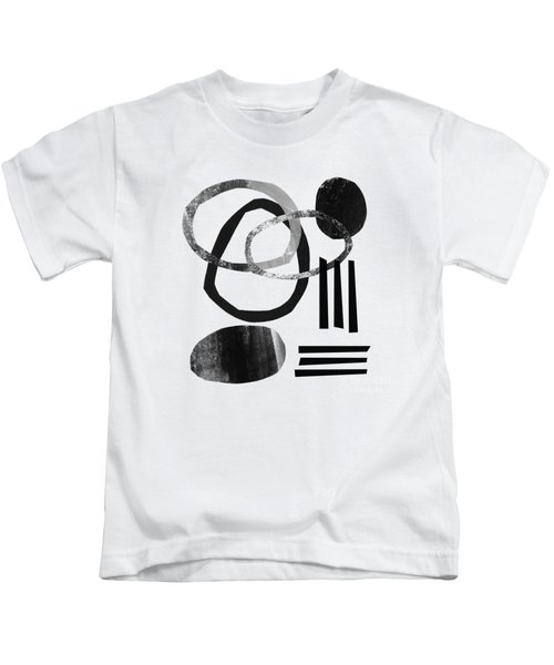 Black And White- Abstract Art Kids T-Shirt