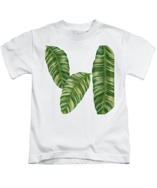 Rainforest Resort - Tropical Banana Leaf  Kids T-Shirt
