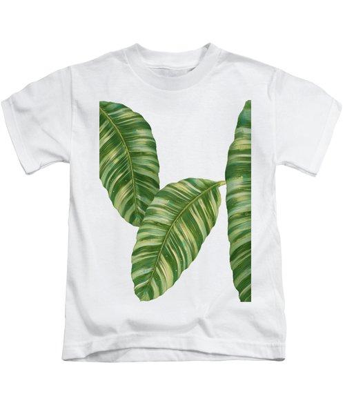 Rainforest Resort - Tropical Banana Leaf  Kids T-Shirt