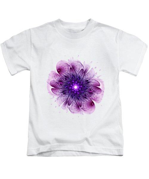 Single Purple Flower Kids T-Shirt