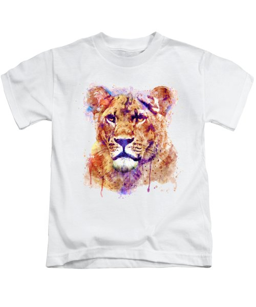 Lioness Head Kids T-Shirt