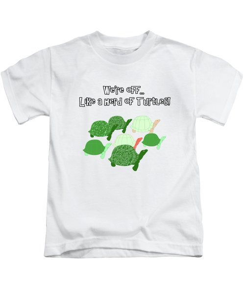 Herd Of Turtles Pattern Kids T-Shirt