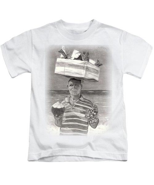 Island Street Vendor Kids T-Shirt by Tom Podsednik