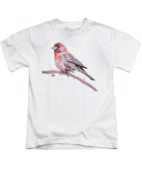 House Finch Kids T-Shirt by Angeles M Pomata
