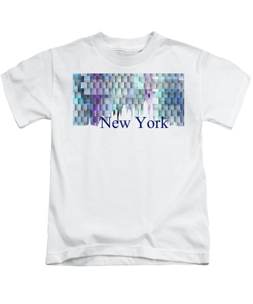 New York Blue Shadows, Kids T-Shirt
