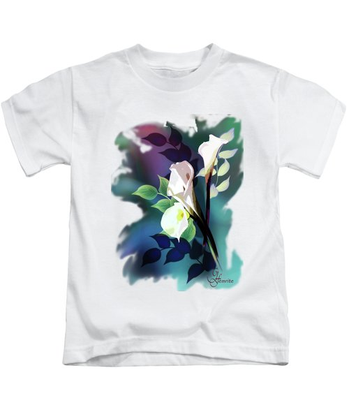 Bouquet In White Kids T-Shirt