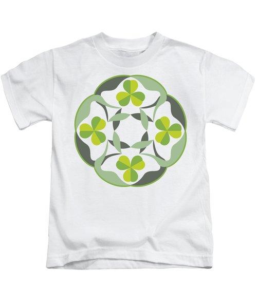 Celtic Inspired Shamrock Graphic Kids T-Shirt