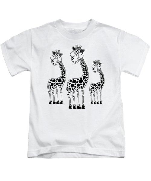 Fudge The Giraffe Kids T-Shirt by Lucia Stewart