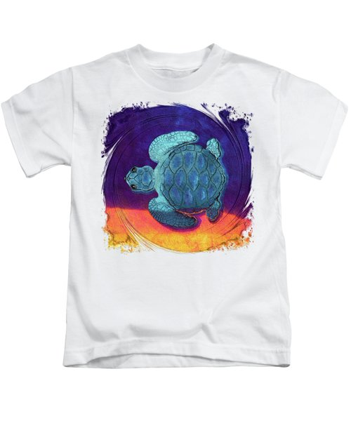 Sea Surfing Kids T-Shirt by Di Designs