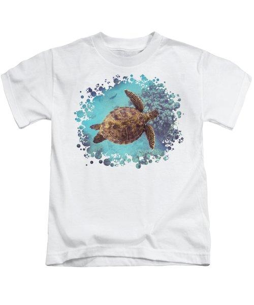 Swimming Honu From Above Kids T-Shirt