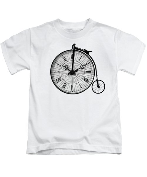 Time To Ride Penny Farthing Kids T-Shirt