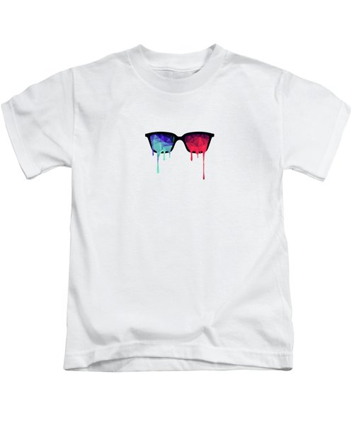 3d Psychedelic / Goa Meditation Glasses Kids T-Shirt