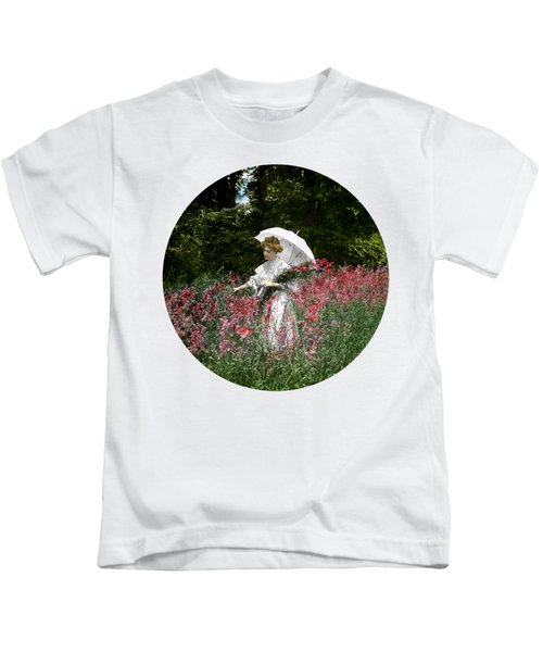 1900 Gathering Wild Flowers Kids T-Shirt