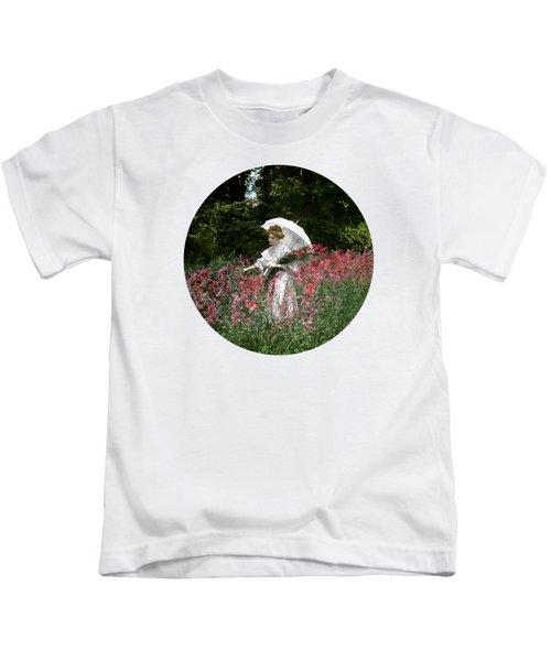 1900 Gathering Wild Flowers Kids T-Shirt