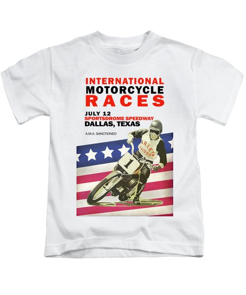 International Motorcycle Races Dallas Kids T-Shirt