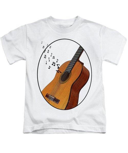 Acoustic Guitar Sounds Kids T-Shirt