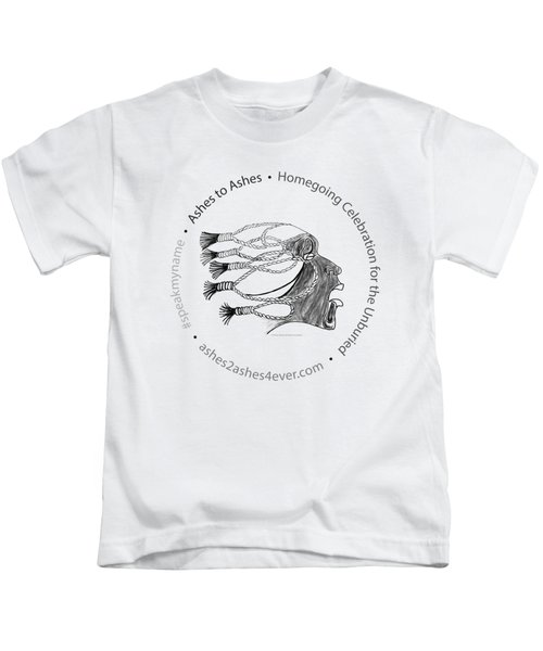 Ashes To Ashes Speak My Name Seal Kids T-Shirt by Shirley Whitaker