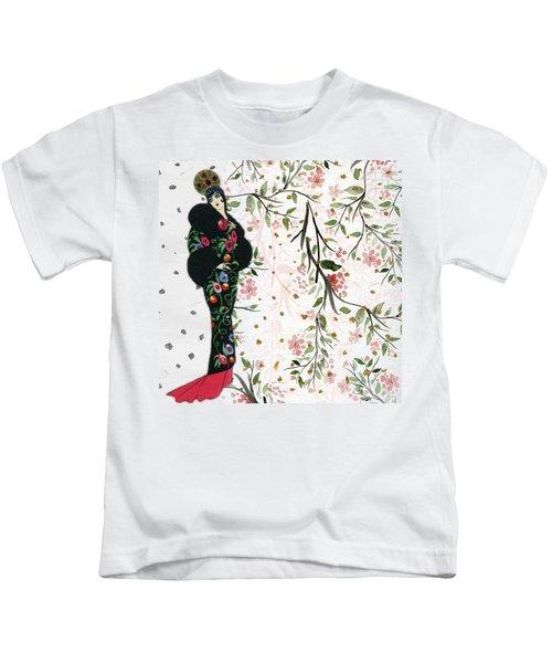 Asian Art Deco Beauty Kids T-Shirt