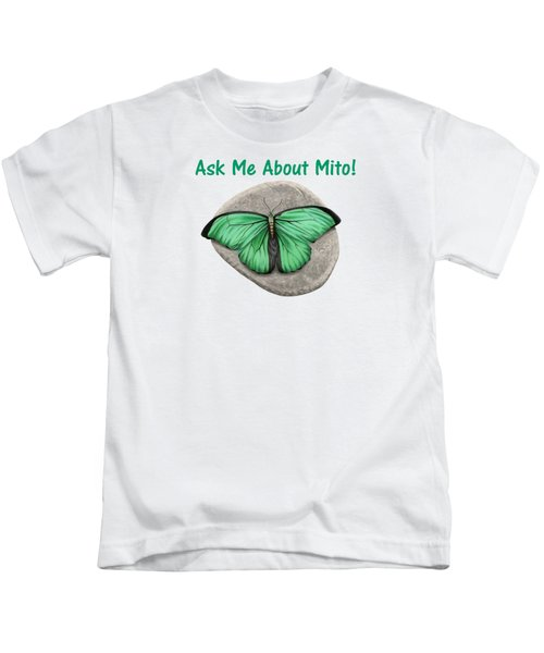 Ask Me About Mito T-shirt Or Tote Bag Kids T-Shirt