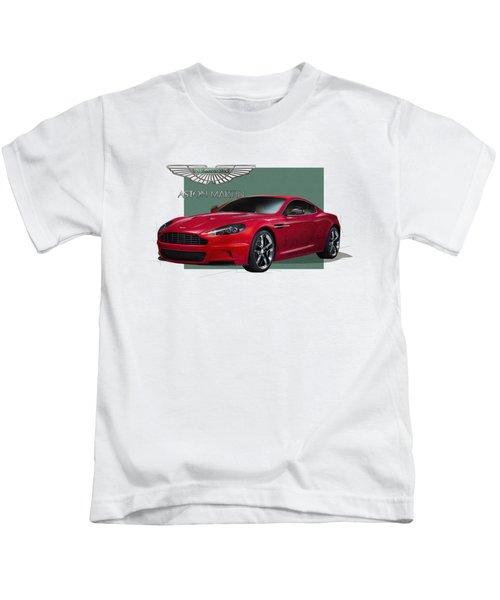 Aston Martin  D B S  V 12  With 3 D Badge  Kids T-Shirt