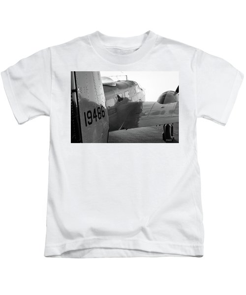 At-11 In Black And White - 2017 Christopher Buff, Www.aviationbuff.com Kids T-Shirt