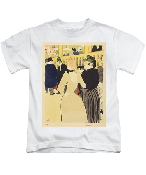 At The Club By Henri Toulouse-lautrec Kids T-Shirt