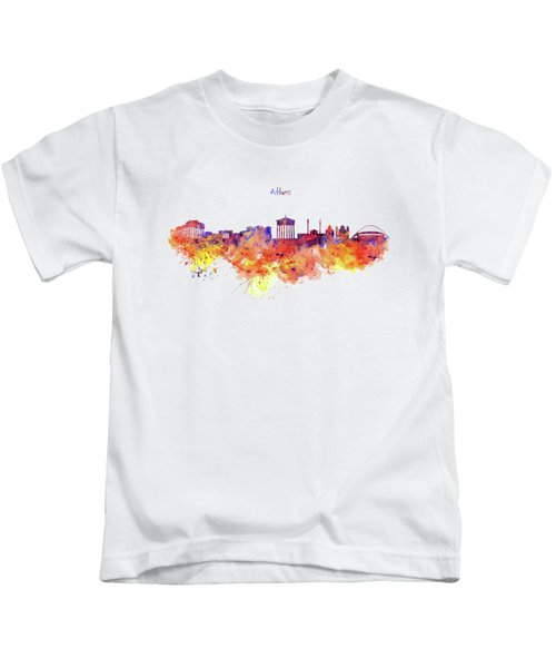 Athens Skyline Kids T-Shirt