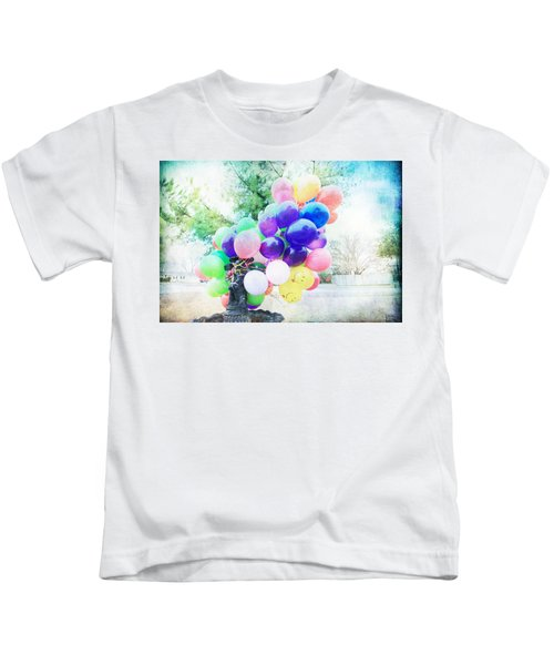 Smiley Face Balloons Kids T-Shirt