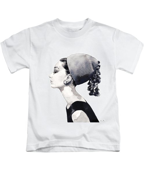 Audrey Hepburn For Vogue 1964 Couture Kids T-Shirt