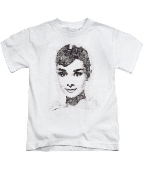 Audrey Hepburn Portrait 02 Kids T-Shirt