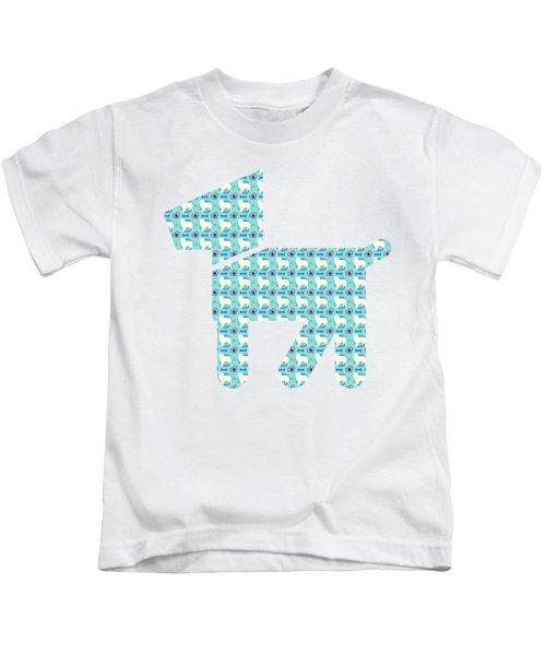 Aussie Dog Pattern Kids T-Shirt