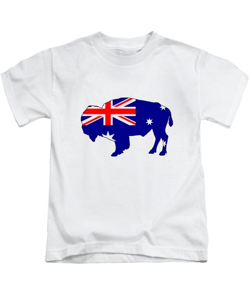 Australian Flag - Bison Kids T-Shirt by Mordax Furittus