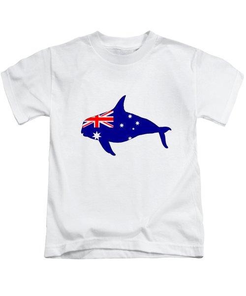 Australian Flag - Killer Whale / Grampus / Orca Kids T-Shirt by Mordax Furittus