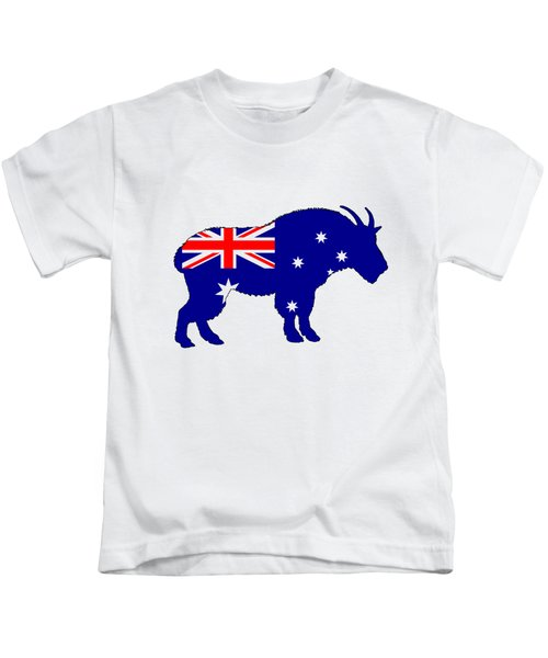 Australian Flag - Mountain Goat Kids T-Shirt