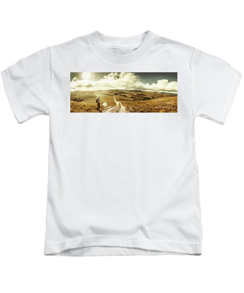 Australian Rural Panoramic Landscape Kids T-Shirt