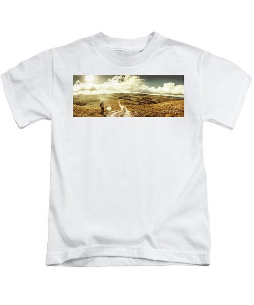 Australian Rural Panoramic Landscape Kids T-Shirt