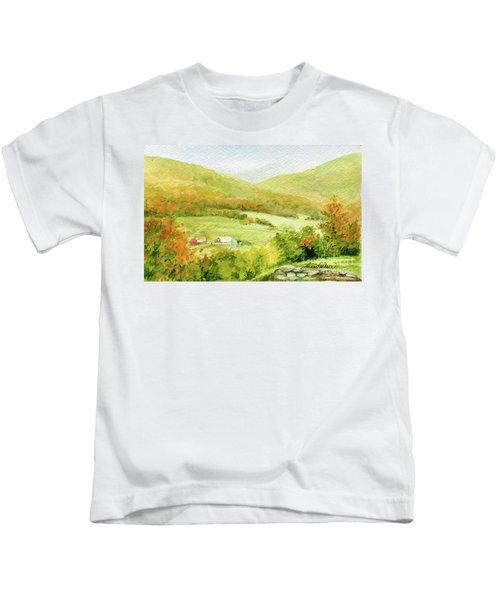 Autumn Farm In Vermont Kids T-Shirt