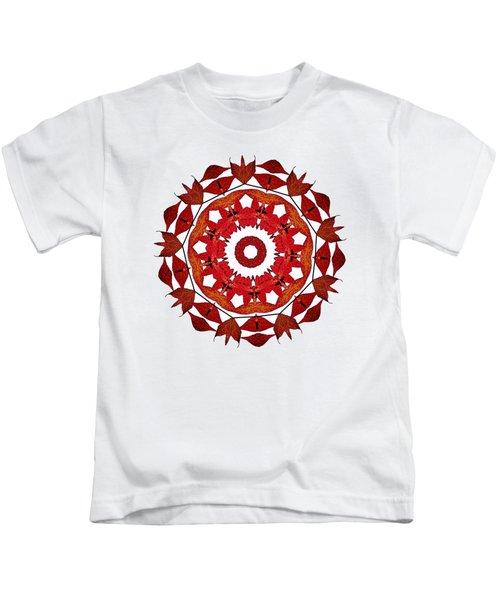 Autumn Leaves Mandala By Kaye Menner Kids T-Shirt