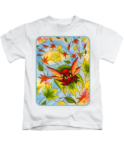 Autumn Winds Fairy Cat Kids T-Shirt