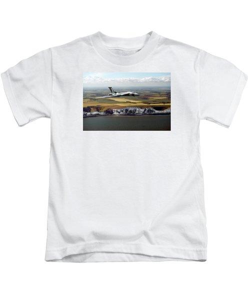 Avro Vulcan Over The White Cliffs Of Dover Kids T-Shirt