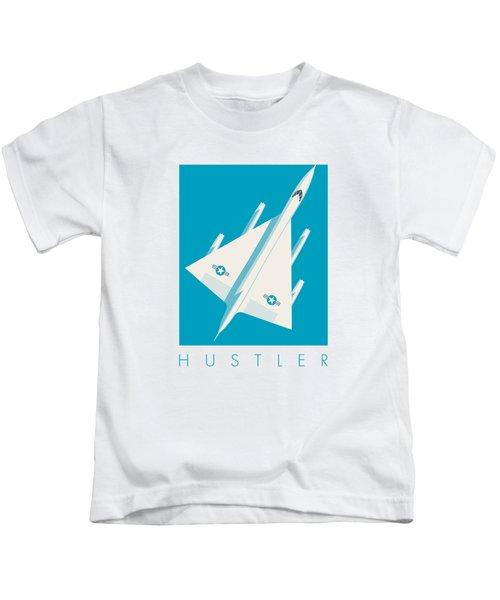 B-58 Hustler Supersonic Jet Bomber - Blue Kids T-Shirt