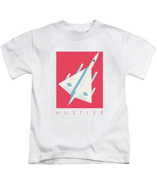 B-58 Hustler Supersonic Jet Bomber - Crimson Kids T-Shirt