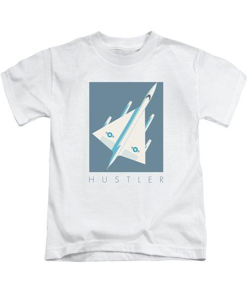 B-58 Hustler Supersonic Jet Bomber - Slate Kids T-Shirt