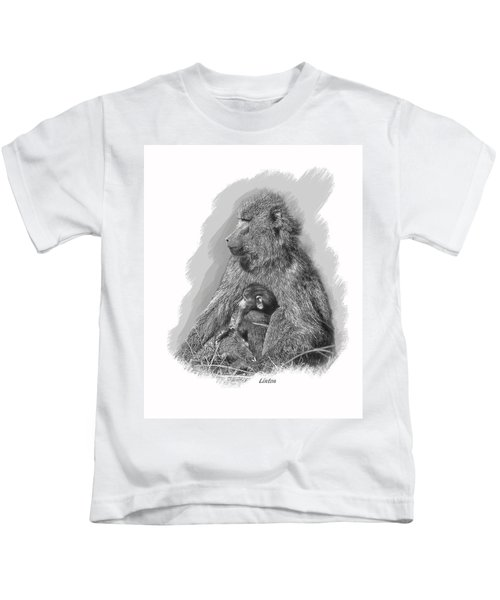 Baboon Mother And Young Kids T-Shirt