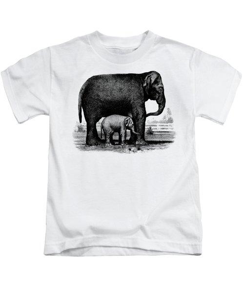 Baby Elephant T-shirt Kids T-Shirt by Edward Fielding